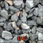 gravel 3/4 inches deliverable